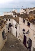 Vista d'un carrer de la Vila AntiAntiga Altea