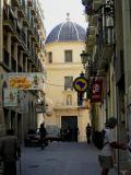 Ciutat històrica d'Alacant, al fons Cocatedral de Sant Nicolas de Bari