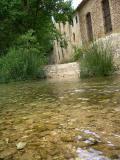 Atravezando el Rio Vinalopo, Bañeres