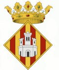 Representation of the Castellón shield of the side