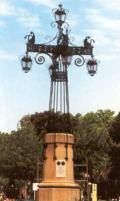 The large street lamp, plaza of the independence, Castellón of the side