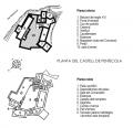 Palano de las instalacones del Castillo Peñiscola