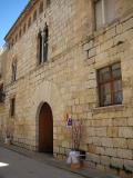 Vista del Fatxada del Palau Borull en Sant Mateu