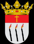 Escudo cuadrilongo de punta redonda de Artana