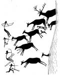 Representación de las pinturas rupestres del Barranco de la Valltorta