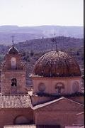 Tower and dome of the Theresa church of Cofrentes