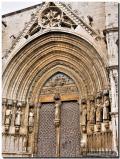 Detall del portal de les Verges en Morella