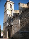 fachada principal de l'Església de Sant Llorenç de Càlig (