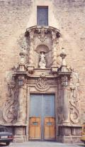 Vista de la Puerta principal de la Iglesia de la Asunción de Onda