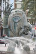 Escultura del artísta Rijolles en Castellón de la Plana