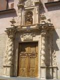 Vista de la Portada barroca de l'Església Arxiprestal de Santa Caterina d'Alzira
