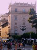 Palacio de la Generalidad desde la plaza de la Vírgen.