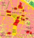 Mapa de situación de la catedral, Valencia