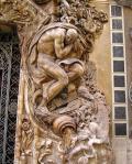 Detall del portal del Museu de Ceràmica i arts santuarias de València
