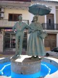 Monument in Bétera to the feast of the sweet basils