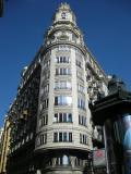 Vista de l'edifici denominada Casa Barrachina pròxima a la plaça de l'ajuntament a València