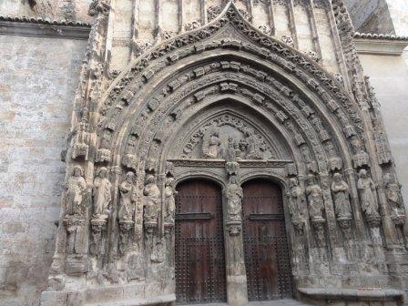 Fachada iglesia de Santa Maria en Requena